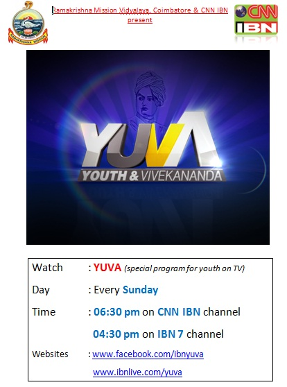 Youth Program  on IBN 7 and CNN IBN on every Sunday