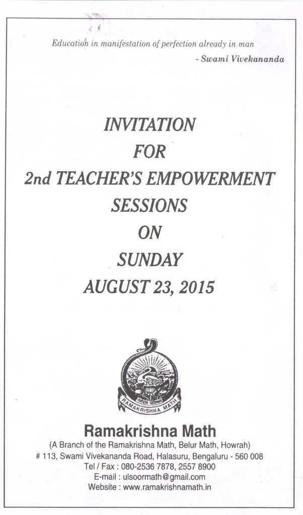 Teachers' Empowerment Sessions1